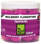 Rod Hutchinson Gourmet Fluoro Pop Ups - Mulberry Florentine 20 mm 60g