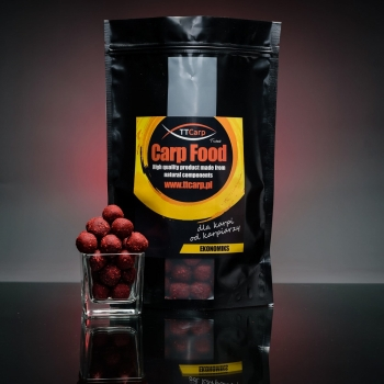 TTCarp Boilie Economics Rose & Raspberry - 1 kg / 18 mm