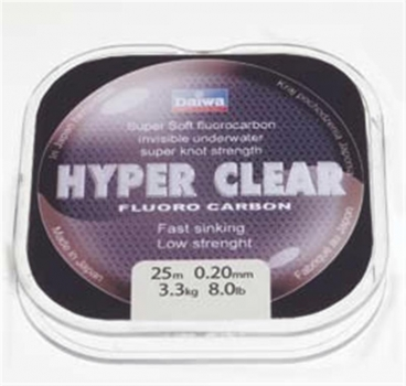 Daiwa Hyper Clear Fluoro Carbon 25m 0.37mm 22.6lb