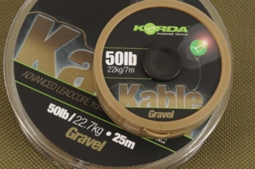 Korda Kable Leadcore 50 lb - 7 m - Gravel / Brown