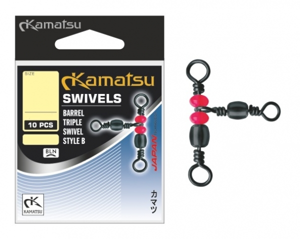 Kamatsu Barrel Triple Wirbel - Gr. 12*14 - 10pcs